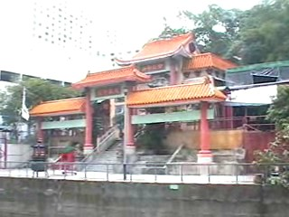 Buddhist temple along the canal