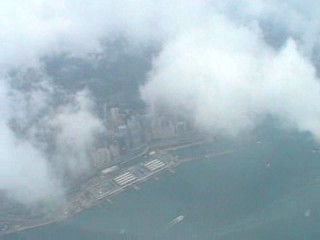 My last look at Hong Kong as we took off from the airport