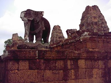 East Mebon is a Hindu temple built in the