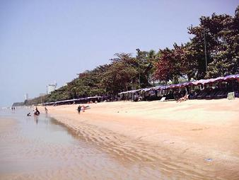 The beach and water are much