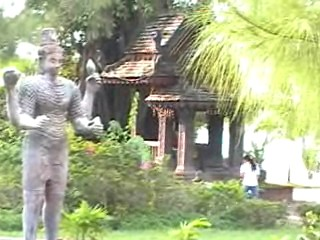 Another statue and temple