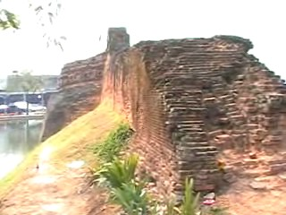 Only parts of the wall that used to go all the way around the city are left