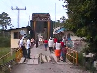 An old train bridge was converted
