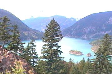 Lake Diablo in the Cascade Mountains of Washington State