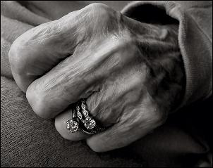 Photo of my mother's hand