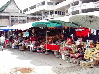 There were lots of shops around  the outside of the market