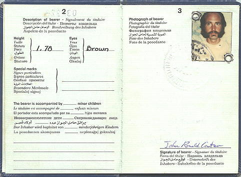 Inside international passport