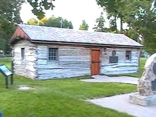 This log cabin was built in 1854