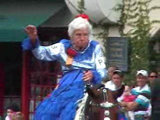 Said to be the oldest person riding horseback