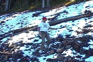 Making September snowballs at Yellowstone Park